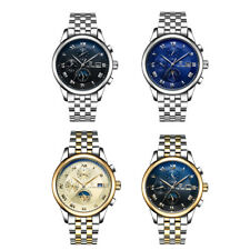 Time/Date/Week/Month Business Sports Mens Watch Mechanical Analog Display