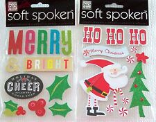 Soft Spoken Christmas & Thanksgiving  Stickers    New!   NIP