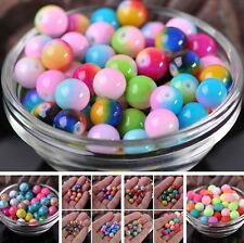 Wholesale 6/8/10mm Random Mixed Round Glass Loose Spacer Beads Jewelry Findings