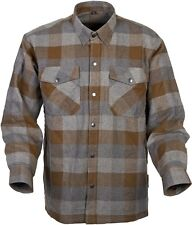 Scorpion Covert - Lined Classic Flannel Motorcycle Shirt - Tan/Brown
