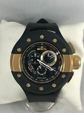 Men's Invicta 6493 S1 Rally Racer Black Poly Gold Accent Chronograph Dial Watch