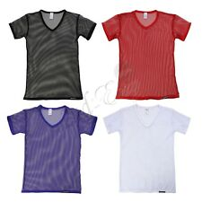 Muscle Undershirt Mesh sheer Mens See Through T-Shirt Tank Top Singlet Underwear