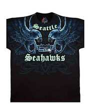 Men's Seattle Seahawks Faceoff T-Shirt Officially Licensed NFL Football Tee L XL