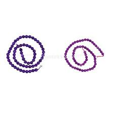 6mm Amethyst Round Gemstone Loose Beads 15.5 Inch/ Strand with 0.8mm Hole