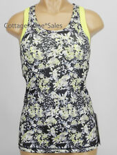 NEW LULULEMON Inspiration Tank Top 6 Crosscourt Petal Black Clarity Yellow NWT