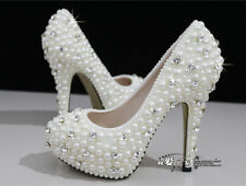luxury crystals bridal wedding glittering rhinestone shoes platform pumps heels