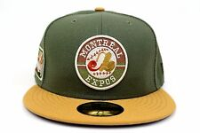 Montreal Expos Army Green Olympic Stadium Patch MLB New Era 59Fifty Fitted Hat
