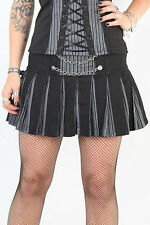 TRIPP NYC GOTHIC PUNK ROCKER  PINSTRIPE DOLL LOLITA PLEATED MINI SKIRT IO9301P