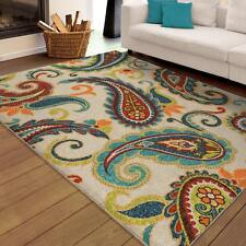 Contemporary Modern Paisley Indoor Outdoor Area Rug **FREE SHIPPING**