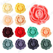 Vintage Resin Rose Flower Cabochon Flatback Jewellery Wholesale 25.5x25x9 RB0567