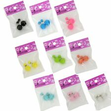 Women Double Side Candy Stud Ball Earrings 9 Colors Available Fashion Jewellery