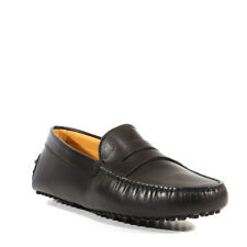 JP Tods Mens Shoes Gommini Driving Leather Loafer Black Round (TDM20)