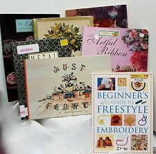 Surface Embroidery Silk Ribbon Metal Crewel Freestyle Candlewicking Your Choice