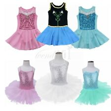 Girls Toddler Ballet Tutu Dress Kids Tulle Princess Leotard Dancewear Costumes