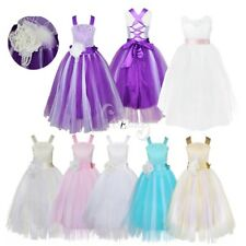 Kids Flower Girls Dress Christening Bridesmaid Wedding Pageant Prom Ball Gown