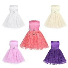 Infant Baby Communion Party Prom Birthday Wedding Flower Girls Dress Floral Bow