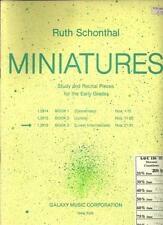 MINIATURES by RUTH SCHONTHAL ~ STUDY & RECITAL PIECES FOR THE EARLY GRADES 1964