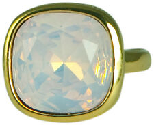 PINK OPAL CRYSTAL SQUARE RING