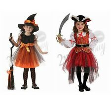 Kids Girl Halloween Witch Pirate Cosplay Costume Party Fancy Dresses Cosplay Hat