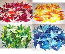 """96 Small Origami Cranes - Made of 7.5cm 3"""" Japanese Paper"""