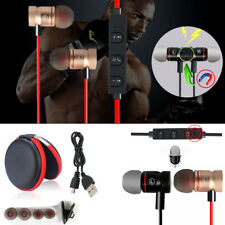 Red -YP56 Magnetic Bluetooth Handsfree Headset Earphone For Cell Phone Apple
