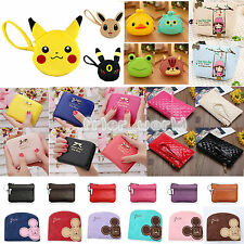 Cartoon Cute Clutch Photo Card Holder Coin Pouch Bag Womens Small Purses Wallet