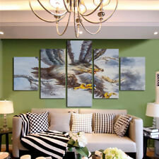 Modern Abstract Oil Painting Wall Decor Art Huge Eagle / Zebr American flag 5pcs