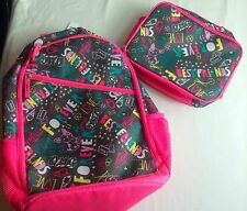 NWT OLD NAVY GIRLS BACKPACK SET LUNCHBOX LUNCH BOX forever love graffiti