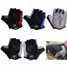 Unisex Cycling Gloves Bicycle Motorcycle Sport Half Finger Gloves S- XL Size @M