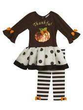 Rare Editions Girls Thanksgiving Pumpkin Thanksful Tutu Dress Outfit 2T 3T 4T