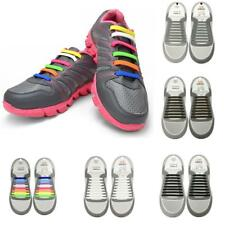 No-Tie Elastic Shoelaces Silicone Flat Round Shoe Laces Sneakers Supplies