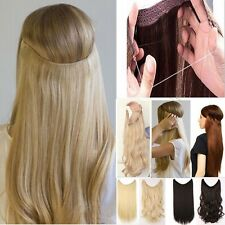 Straight Wavy Real Thikc Wire Headband One Piece No Clip in on Hair Extensions