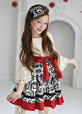 NWT Mustard Pie Enchanted Holiday Olivia Lace Dress Berry Red 2T 4T 4 5 6 7 8