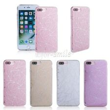 for Apple iPhone TPU Bling Glitte Geometric Line Back Protective Hard Case Cover