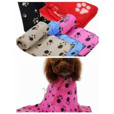 Paw Print Soft Handcrafted Warm Pet Puppy Dog Cat Fleece Blanket Mat Cover New