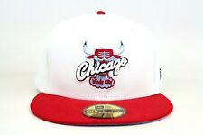 Chicago Bulls White Scarlet Red University Blue Black New Era 59Fifty Fitted Hat