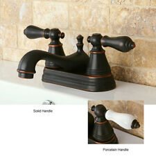 Two-Handle Oil-Rubbed Bronze Bathroom Faucet