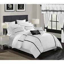 Chic Home 24-Piece Auburn King Bed In a Bag Comforter Set White