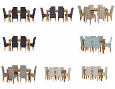 HOME Lincoln Oak Effect Dining Table and Chairs - Choice of Colour and Seating.