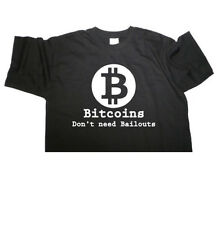 "FabTab T-shirt - "" BITCOINS DON'T NEED BAILOUTS ""  Bitcoin - size/colour choice"