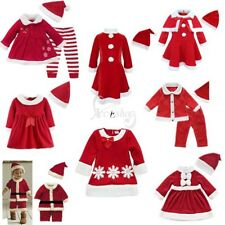 Kids Baby Boys Girls Newborn Jumpsuits Hat Toddler Clothes Christmas Costume Set