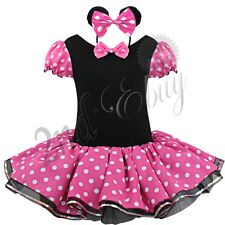 Kids Girls Baby Toddler Minnie Mouse Halloween Costume Party Tutu Dress Headband