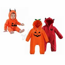Halloween Newborn Baby Boys Girl Outfit Hooded Romper Jumpsuit Bodysuit Clothes