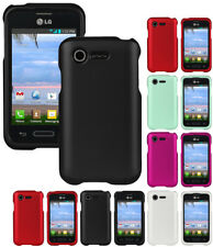 NEW RUBBERIZED PROTEX HARD CASE COVER LG OPTIMUS ZONE-2 VS415 PHONE (FUEL L34C)