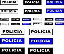 24 x spanish policia wording DECALS IDEAL CODE 3 MODELs etc Cararama & Hongwell