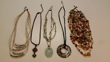Lia Sophia necklaces LOT of 5 Necklaces Pendant Beaded Stacked Signed Lia Sophia