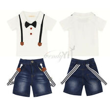 WD Newborn Baby Boy Xmas Halloween Costume Gentleman Romper One piece Outfit Set