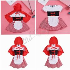 Girl Kid Little Red Riding Hood Fancy Dress Costume Outfit Party Fairy Halloween