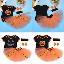 Halloween Newborn Baby Girl Outfits Clothes Romper Jumpsuit Bodysuit Set 0-12 M