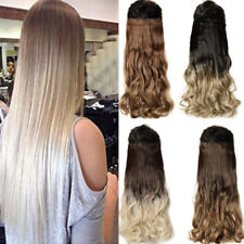Natural Full Head Clip in Thick Hair Extensions Brown Blonde Black As Remy Hair